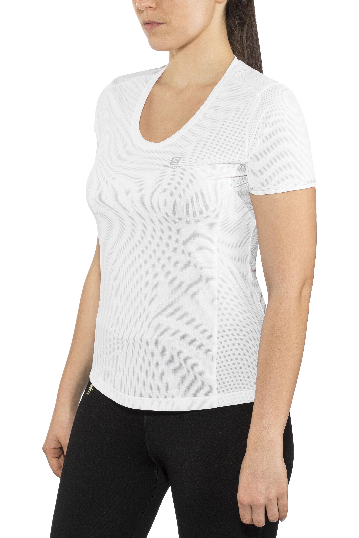 430581430a Salomon Agile - Camiseta Running Mujer - blanco   Campz.es